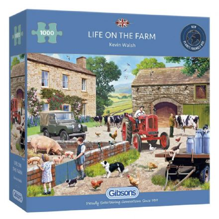 Life on the Farm by Kevin Walsh 1000 Piece Gibsons Jigsaw